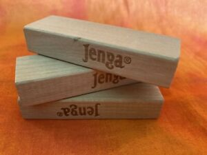 Jenga Block Replacement Wood Block Piece or Craft Piece (3)