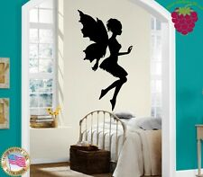 Wall Stickers Vinyl Decal Nursery Fairy Beautiful Girl Kids Children ig997