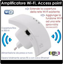 ACCESS POINT WIRELESS WIFI E  WIFI EXTENDER RIPETORE SEGNALE WI-FI
