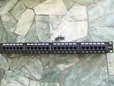 CAT5E 24 PORT PATCH PANEL RACK MOUNT- w/Wire Management and FREE SHIPPING!