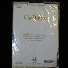 New in Package White Fishnet Nylon Pantyhose by Galleria #9001