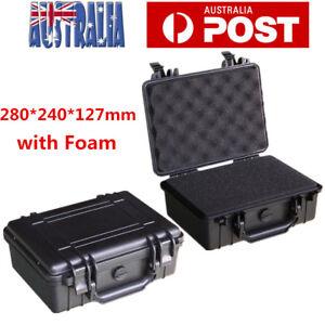 Waterproof Hard Plastic Carry Case Tool Storage Box Portable Organizer with Foam