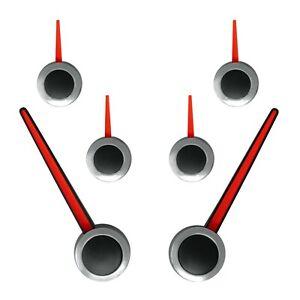 Custom Speedometer Gauge Needle Set Black Red Chrome for 2007-2013 GM Trucks SUV