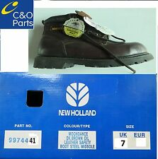 9974441, WORK BOOTS, SAFETY SIZE UK 7, NEW HOLLAND BRANDED AND BOXED