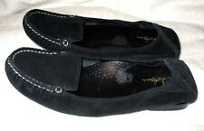 EUC ~ **COLE HAAN**  Black Suede Leather Nike Air Slip On Moccasin ,8M