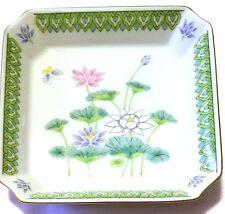"Otagiri Japan Lotus Garden 6"" Porcelain Square Trinket Dresser Accent Dish"