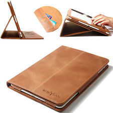 Brown Magnetic Real Genuine Leather Smart Case Cover For Apple iPad mini 1/2/3