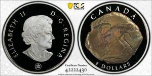 2007 Canada Four Dollar Silver Parasaurolophus Fossil $4 PCGS PR70DCAM 2430