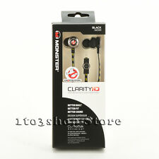 Monster Ghostbusters Headphones Clarity HD In Ear Bud Headset w/Mic Remote Black