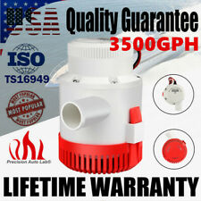 3500 GPH 12V Submersible Electric Sump Bilge Water Pump For Marine Boat Yacht
