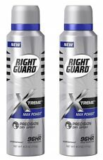 LOT OF 2 Right Guard Xtreme Max Power Precision Odor Protection Dry Spray 96hr