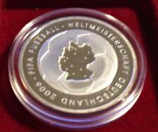 10 EUR 2003 - Zur Fußball-Weltmeisterschaft 2006, 1.Aus. 925er Silber PP, Jg 499