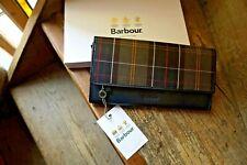 Barbour Leather Travel Organiser Wallet Barbour Olive Tartan BNWT