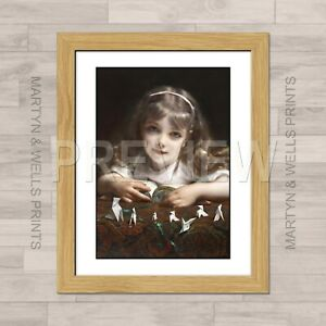 Etienne Piot framed print: Origami Dreams. 400mm x 325mm. Textured canvas paper.