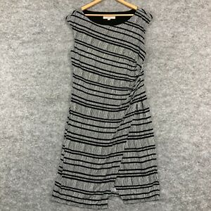 Ann Taylor LOFT Womens Dress Size Large Black White Sleeveless A-Line 112.28