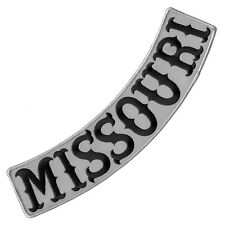 VEGASBEE® MISSOURI REFLECTIVE EMBROIDERED IRON-ON PATCH BIKER LOW ROCKER 12""