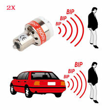 2X12V LED Car Back Up Audible Light Bulb Reverse Beeper Alert Warning Buzzer