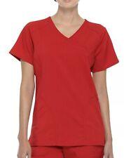 Scrubstar Women's Scrub Top Small Red Performance Mock Wrap Premium New