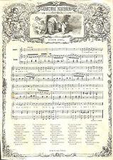 "GUSTAVE NADAUD ROUBAIX CHANSON "" QUINZE AVRIL "" GRAVURE ILLUSTRATION 1863"