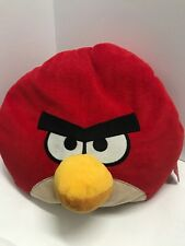"""Angry Birds Red Plush Beanbag Micro Bead Stuffed Toy Pillow 12"""" Round"""