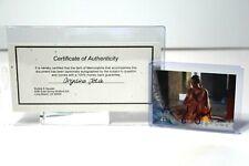 "ANGELINA JOLIE ""TOMB RAIDER"" autographed MOVIE CARD with COA !!!"