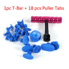 Car Body Paintless Dent Repair Removal Tool Kit Puller Lifter T-Bar with 18 Tabs