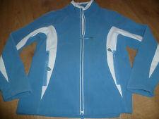 schöne Damen Fleece Jacke Freizeit Übergangsjacke Gr. 36/38 blau TCM Stehkragen