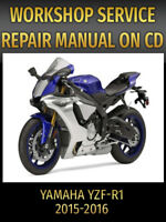 Yamaha YZF-R1 Service and Repair Manual YZFR1 R1 2015 2016 PDF CD