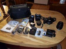 Nikon D3200 24.2MP Digital SLR Camera - Black Bundle:lenses + case + extras