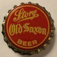 STORZ OLD SAXON BEER BOTTLE CAP; 1933-39; OMAHA, NE; UNUSED CORK