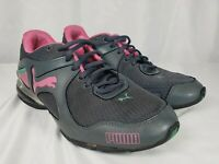 Puma Cell Riaze Running Trainer Athletic Shoe Womens Size 7 Gray Pink 186229 14