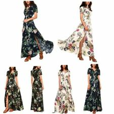 Rayon Long Dresses for Women with Buttons
