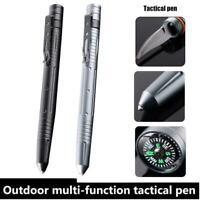 Self Defense Tactical Pen Glass Breaker Survival Tool Escape Tungsten Steel U4V9