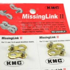 KMC RE-USABLE Missing link 7/8 speed (2 pairs) , Gold