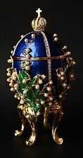 """St Petersburg Russian Faberge Egg: Lilies of the Valley, 6.5"""""""