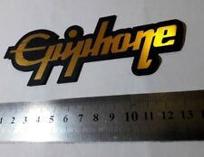 Epiphone plastic logo new style badge GOLD color 135 mm = 5.3''