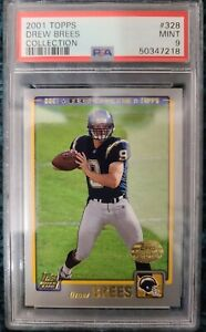 2001 Topps Collection (Set Version) SP Drew Brees Rookie Card #328 PSA 9 Mint RC