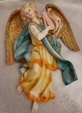 "Fontanini Depose Italy 9"" Hanging Angel with Lyre - Nativity Village"