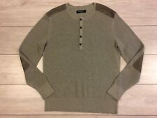 Mens ALLSAINTS BRAM GRANDAD 100% Cotton Knit Jumper Sweater Medium M RRP £80