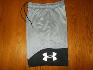 UNDER ARMOUR GRAY ATHLETIC BASKETBALL SHORTS MENS MEDIUM EXCELLENT CONDITION