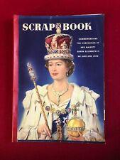 """1953, Queen Elizabeth, """"Coronation"""" Scrap Book (Scarce / Vintage)"""