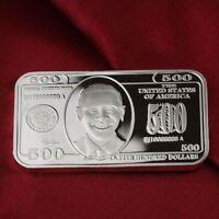 1 Troy oz  .999 Fine Silver Bar  Bullion /  $500 Design  F2SB1H6