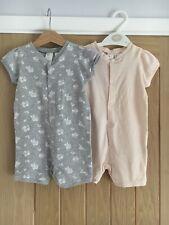 H&M Baby Girls Romper Suits 6-9 Months