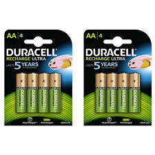 8x Duracell AA 2500mAh Duralock PRE & STAY CHARGED Ni-Mh Rechargeable Batteries