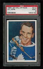PSA 9 SYL APPS 1985 Hockey Hall Of Fame Card #212