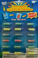 18 x  MAGIC GROW CAPSULES TOY - Drop in Water!  EXPANDING FOAM WILD LIFE ANIMALS
