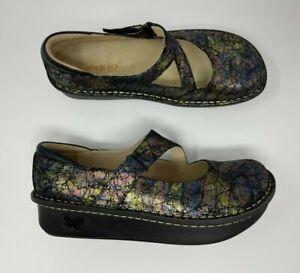 Alegria 38 US 8/8.5 Dayna Sierra Mary Jane Comfort Shoes Multi Color NWOB N5