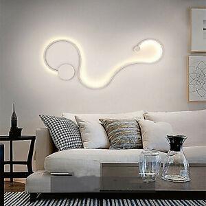 Applique LED 20W bianco curvo snake lampada moderna luce parete muro 6000K 230V