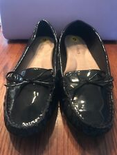 Ellen Tracy 9M Black Patent Faux Leather Loafers/Flats With Bow *NEW*