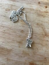 "Spinning Wheel Welsh Princess Aurora Sleeping Beauty Maleficent 18"" necklace"